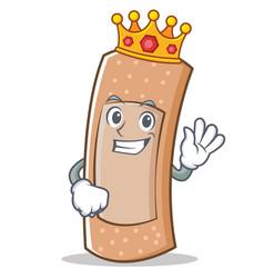 king band aid character cartoon vector image vector image