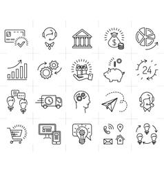 Market shop business line icon art flat vector