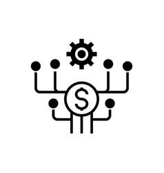 marketing development icon vector image
