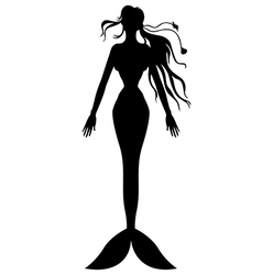mermaid top vector image vector image