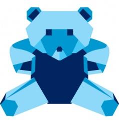 origami bear vector image vector image