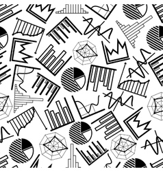 Pie charts graphs and diagrams pattern vector image