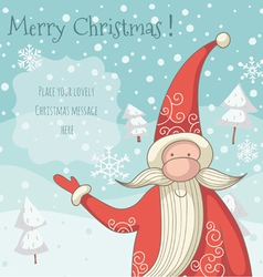 Santa clause greeting card vector