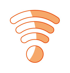 silhouette wifi symbol icon design vector image