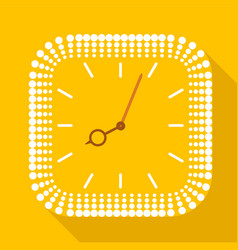 Square clock without numbers icon flat style vector