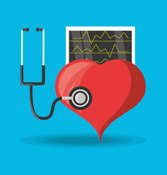 Stethoscope check to heart and review cardiac vector