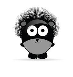 sweet and funny hedgehog animal vector image