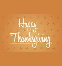 Thanksgiving background with turkey collection vector