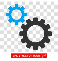 Transmission gears eps icon vector