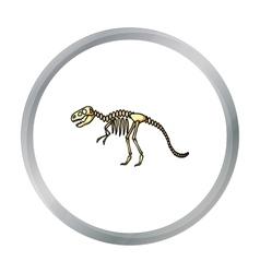 Tyrannosaurus rex icon in cartoon style isolated vector image vector image