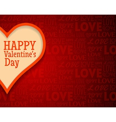 Valentines day greetings card background with big vector