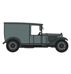 Vintage gray van vector image vector image