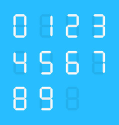 white group of simple digital numbers vector image