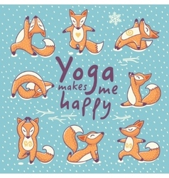 Yoga makes me happy vector