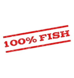 100 percent fish watermark stamp vector