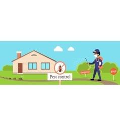 Pest control banner vector