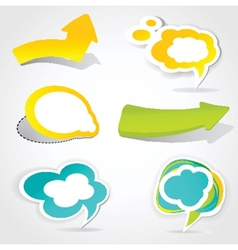 Speech cloud bubble green background vector