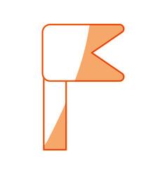 Silhouette notice emblem symbol icon vector