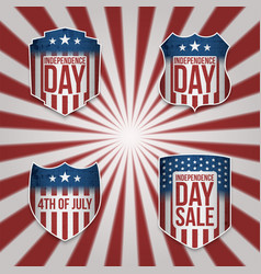 Collection of 4th of july banners vector