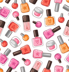 Nail polish seamless pattern vector