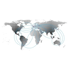 aero ways in the business world map background vector image