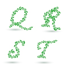 Leaf text q t vector
