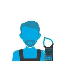 Maintenance electrician blue icon vector
