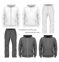 Men hooded tracksuit vector