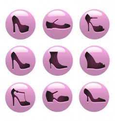 Fashion shoes icon vector