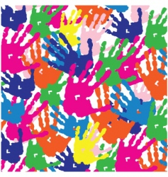 Hand print pattern vector