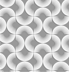 Perforated stripy semi circles vector