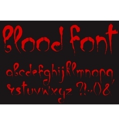 Bloody alphabet set vector