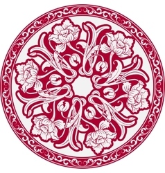 The circular pattern with motifs of chinese vector