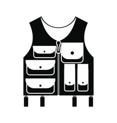 Hunter vest black simple icon vector