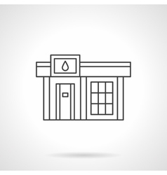 Gas station icon flat line design icon vector