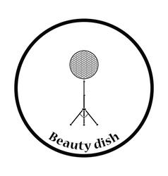 Icon of beauty dish flash vector
