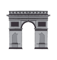 Arc of triomphe icon vector