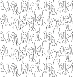 background pattern with rabbits vector image