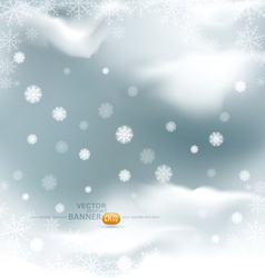 background with flying snow flakes vector image vector image