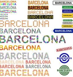 Barcelona text design set - catalonian version vector