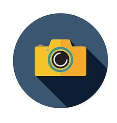 camera flat long shadow vector image vector image