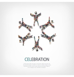 celebration people sign 3d vector image vector image