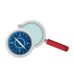 compass and magnifying glass vector image