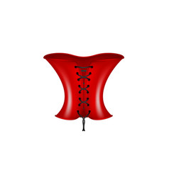 Corset in red and black design vector
