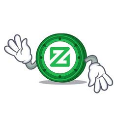 Crazy zcoin mascot cartoon style vector