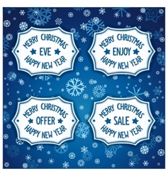 Four badge for event christmas eve vector