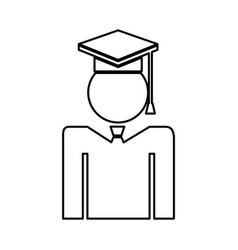 graduated figure silhouette icon vector image