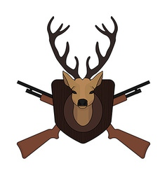 Hunting trophy taxidermy deer head vector image