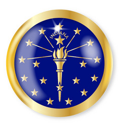 indiana flag button vector image