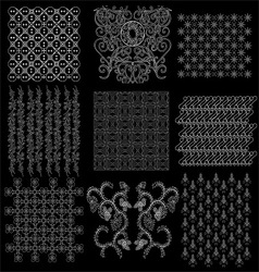 java batik pattern collection 2 vector image vector image